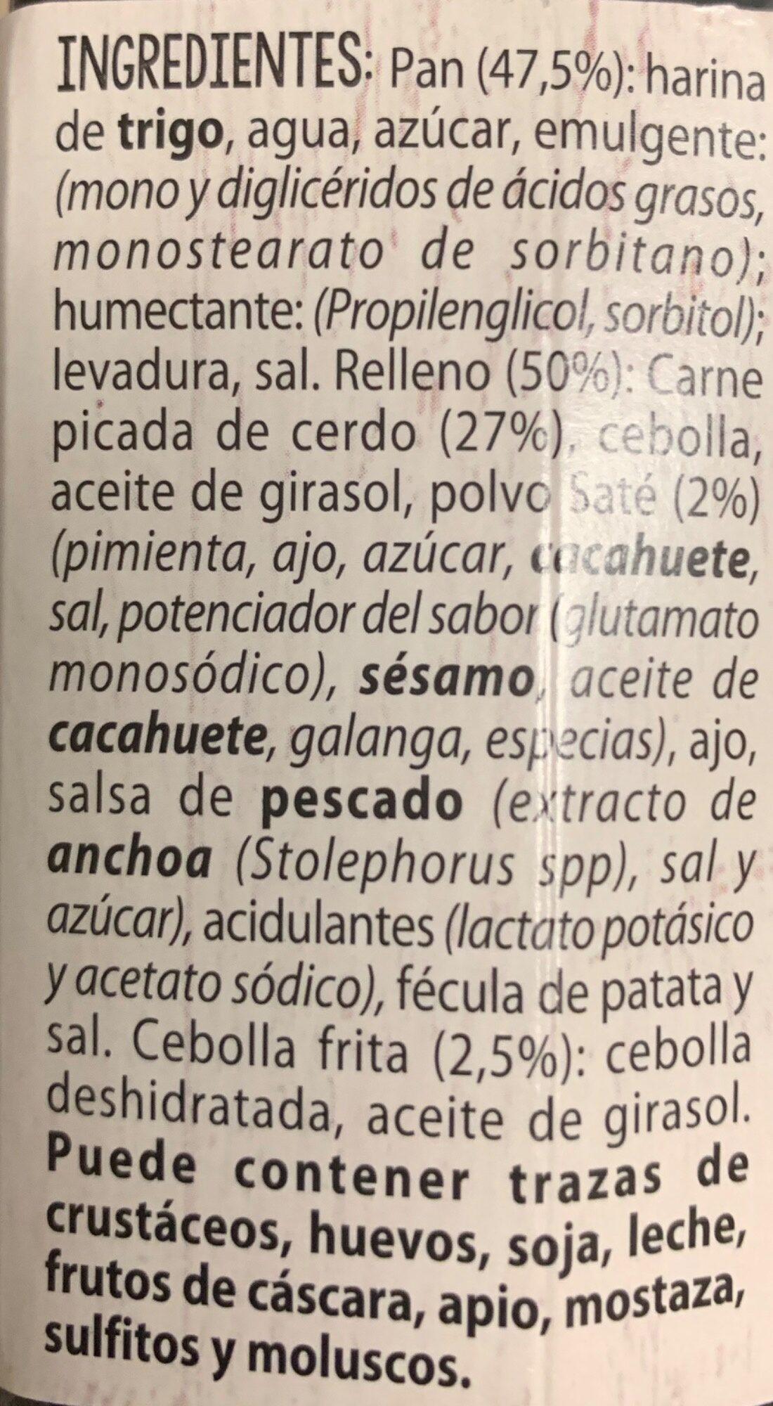 Bao de Carne al Saté - Ingrédients - es