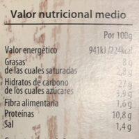 Bao de Carne al Saté - Informations nutritionnelles - es