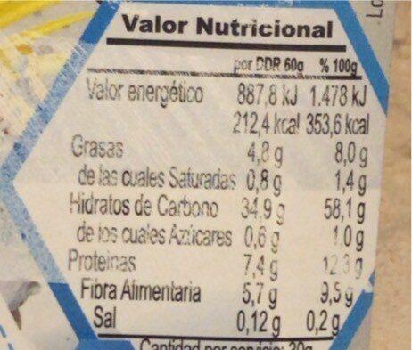 harina de avena - Nutrition facts - es