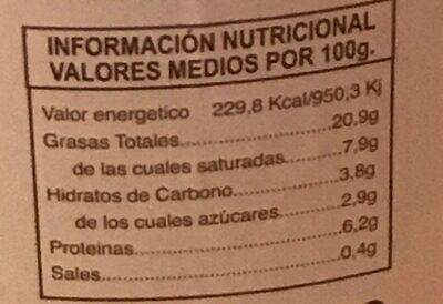 Pimientos rellenos de bacalao - Informations nutritionnelles - es