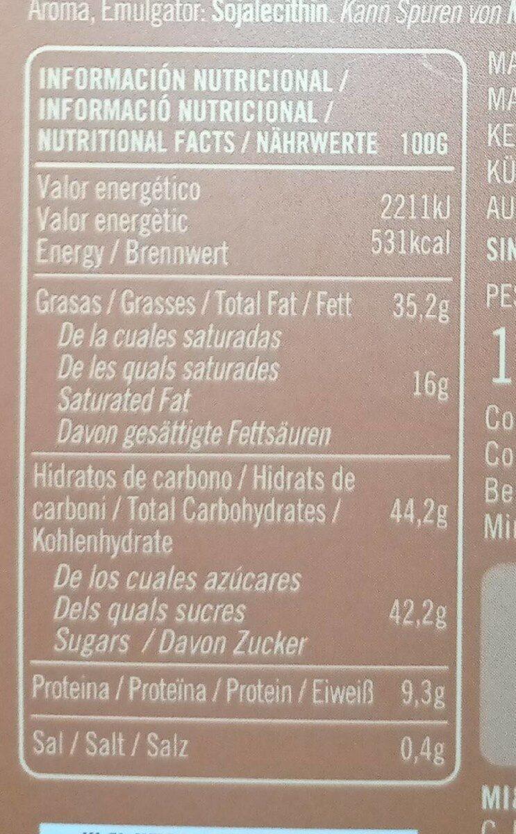 bombones de chocolate y caramelo con un punto de sal - Informations nutritionnelles - es