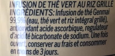 The vert - Ingrediënten - fr