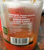 Pimiento rojo asado en leña de encina - Informations nutritionnelles - es
