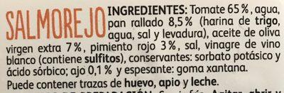 Salmorejo - Ingredients