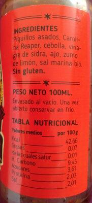 Salsa de Carolina Reaper - Ingredientes
