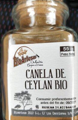 Canela Ceylan Bio Molida - Producto - es