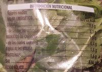 Brotes Tiernos - Información nutricional