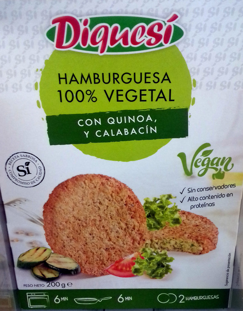Hamburguesa con quinoa y calabacín - Producto