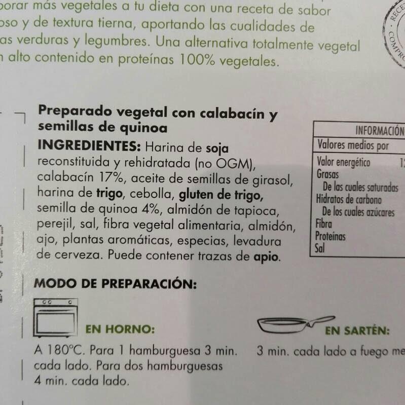Veggie Burguer - Ingredients