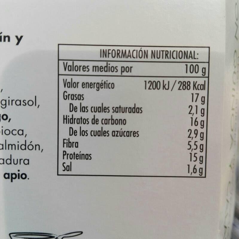 Veggie Burguer - Nutrition facts