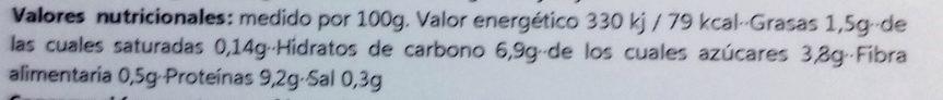 Seitan casero con verduras - Voedingswaarden