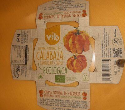 Crema Natural de calabaza, zanahoria y caqui - Produit - es