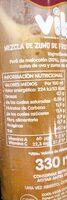 Zumo melocotón naranja + zanahoria con vitamias A+C para fortalecer tus defensas - Nutrition facts - es