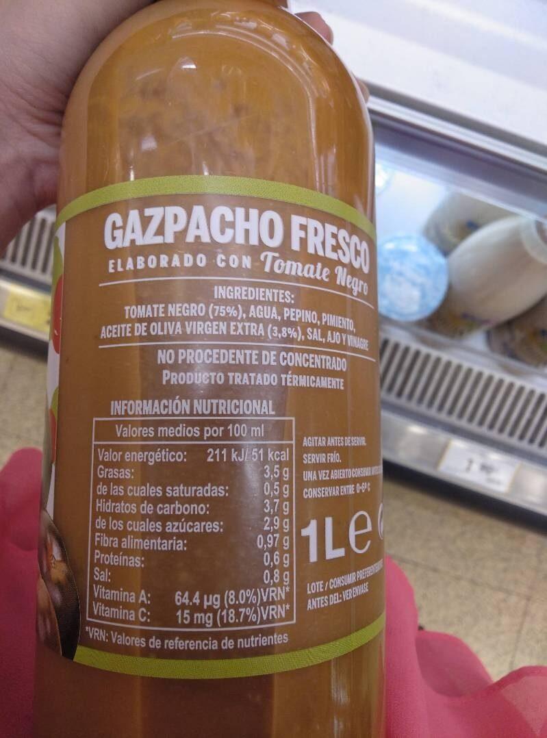Gazpacho fresco - Información nutricional - es