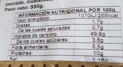 Espiga plus puro trigo - Informació nutricional