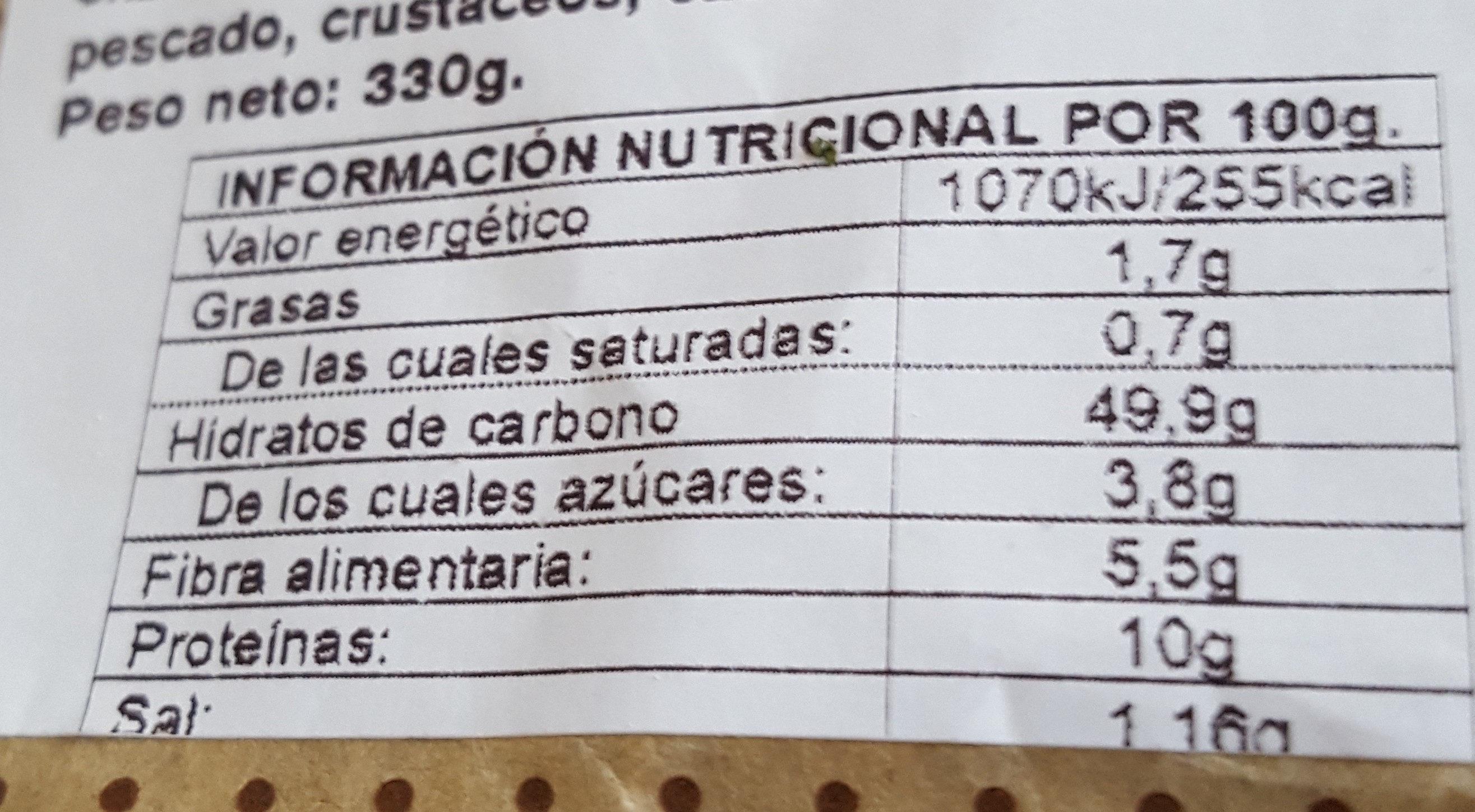Espiga plus puro trigo - Nutrition facts - es