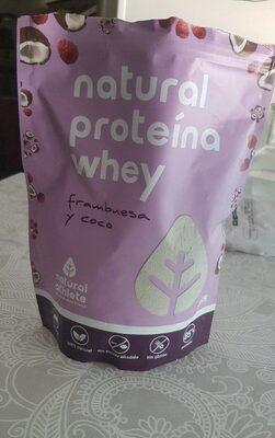 Natural proteina whey frambuesa y coco