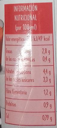 Gazpacho ecológico - Información nutricional - es