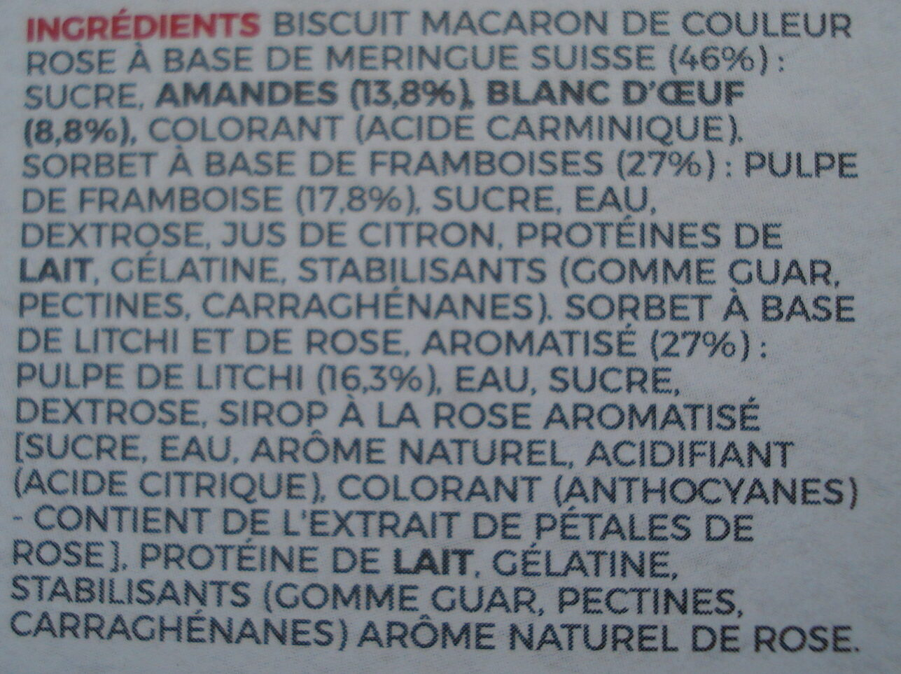 Macaron Ice Cream pierre Herme - Ingrediënten - fr
