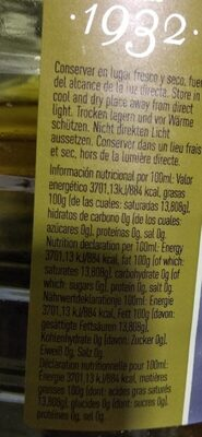 Aceite de oliva virgen - Nutrition facts - es