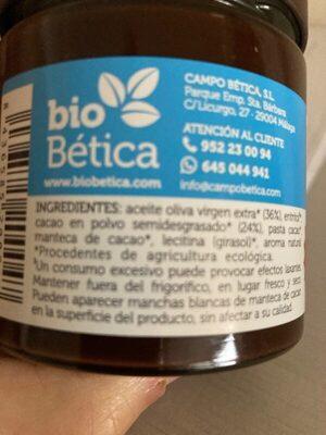 Biochoc - Ingrédients - es