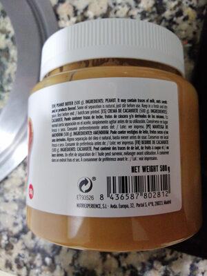 Crema de cacahuete - Ingredientes