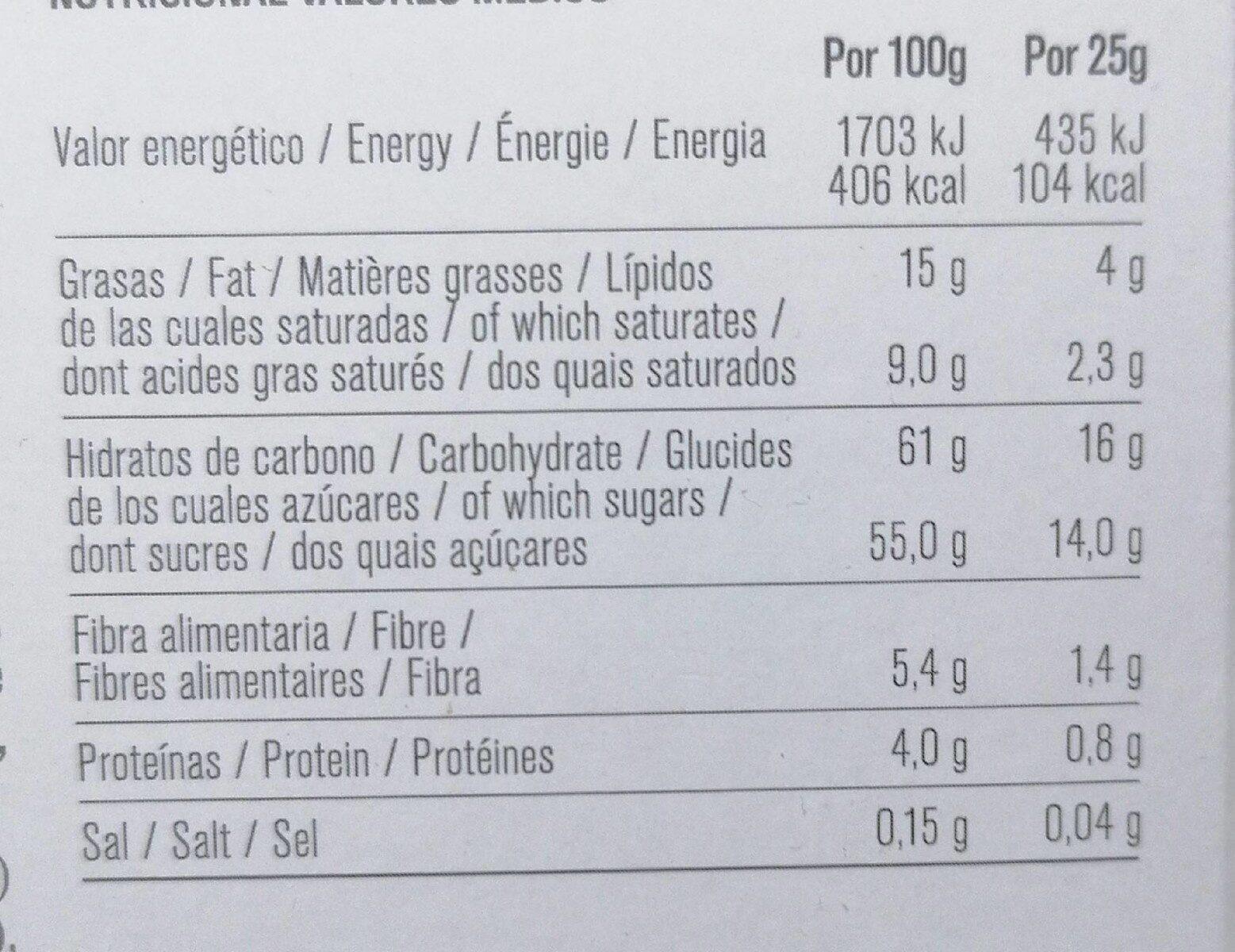 Naranja Bombón - Valori nutrizionali - es