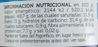 Biochoc - Nutrition facts - es