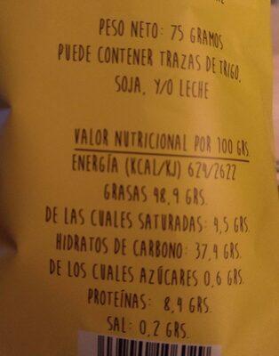 Patatas fritas artesanas - Información nutricional