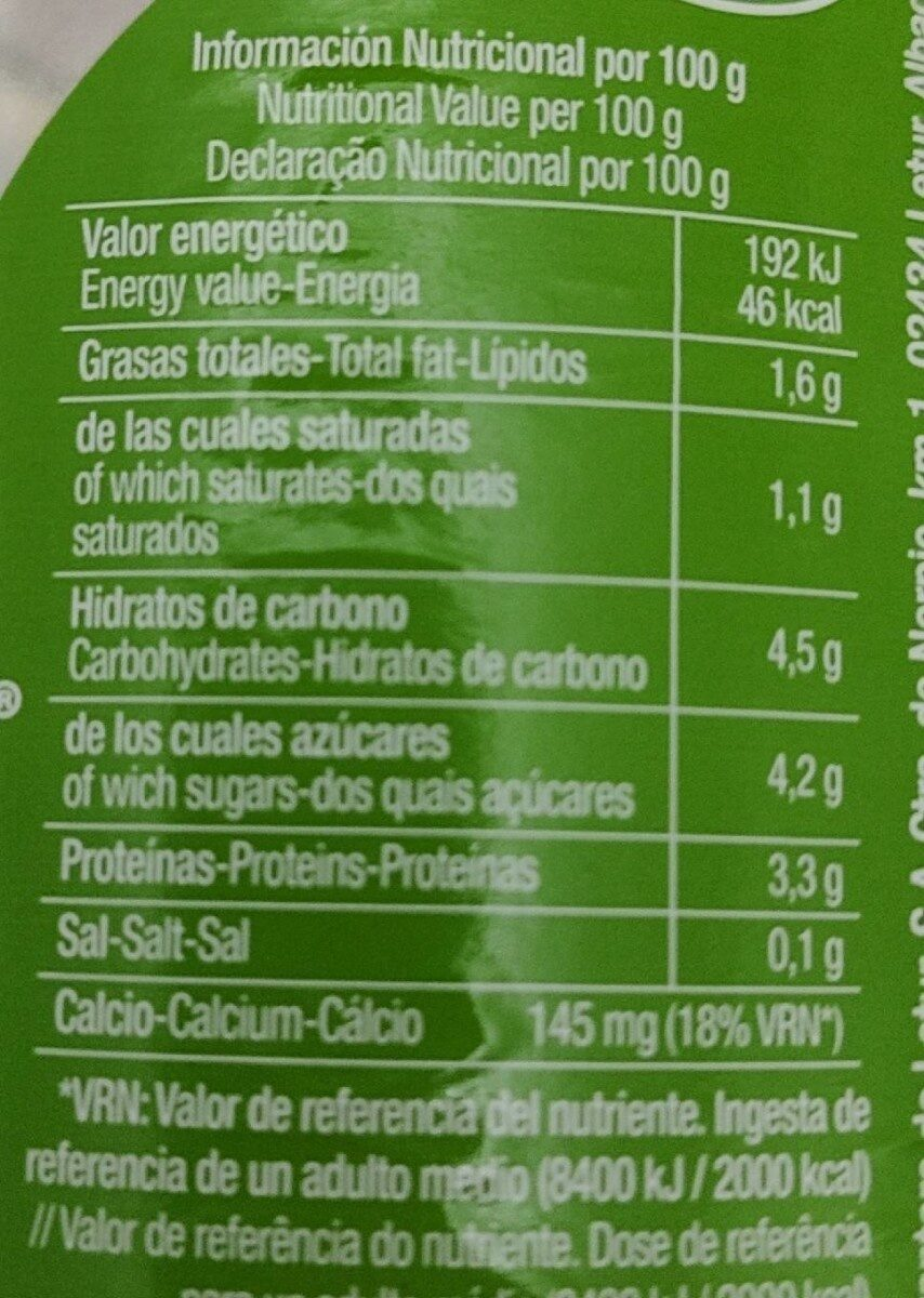 Leche de cabra semidesnatada - Nutrition facts