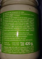 Yogur de Cabra Ecologico - Ingredients