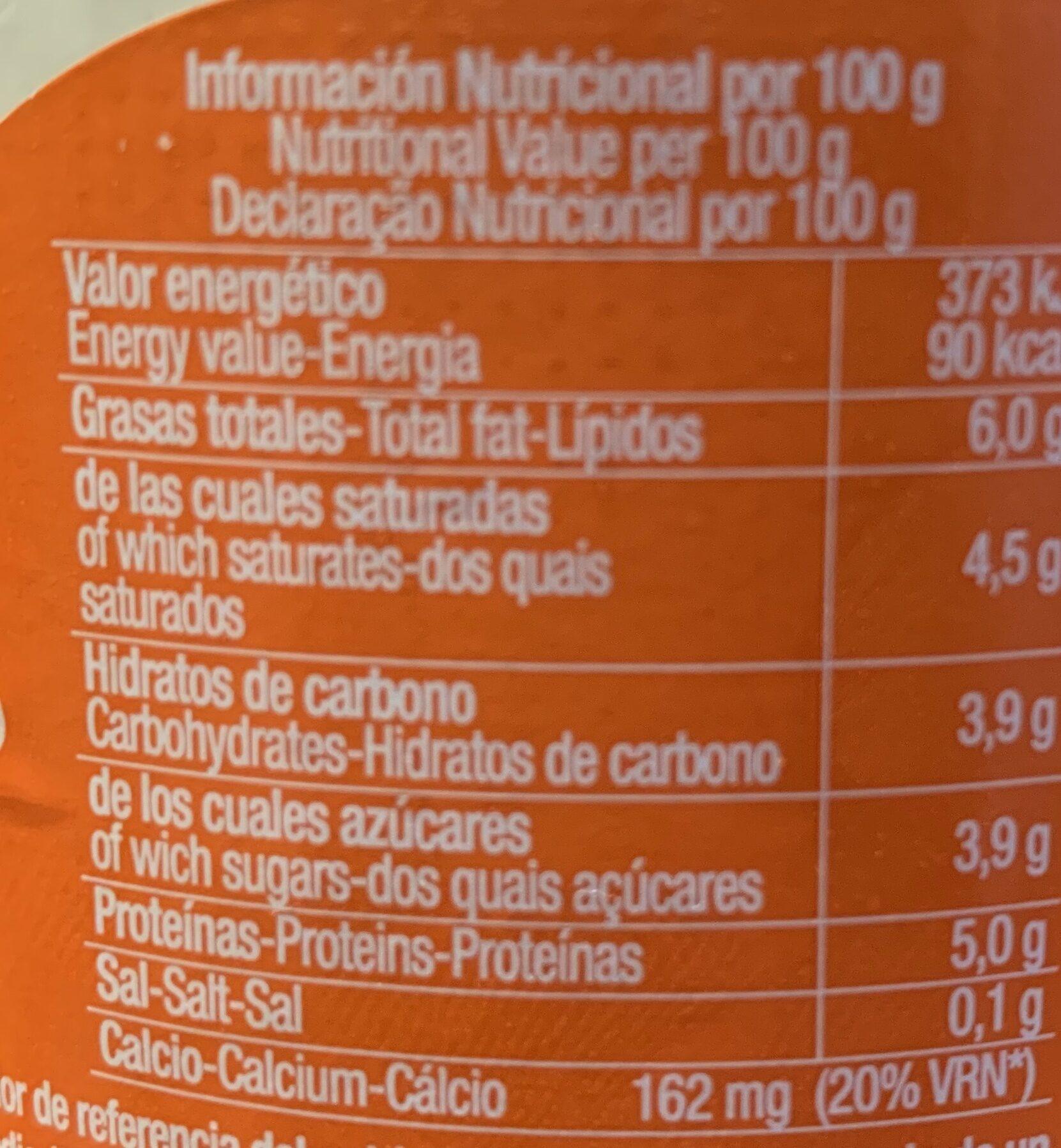 Yogur de oveja ecológico - Información nutricional