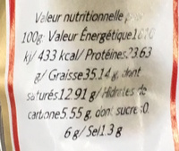 Fuet Chorizo fort - Informations nutritionnelles - fr