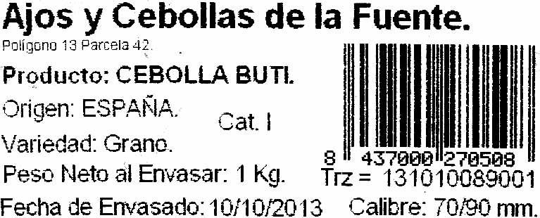 Cebolla - Ingredientes - es