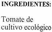"Tomate triturado ecológico ""Cachopo Agricultura Ecológica"" - Ingredients"