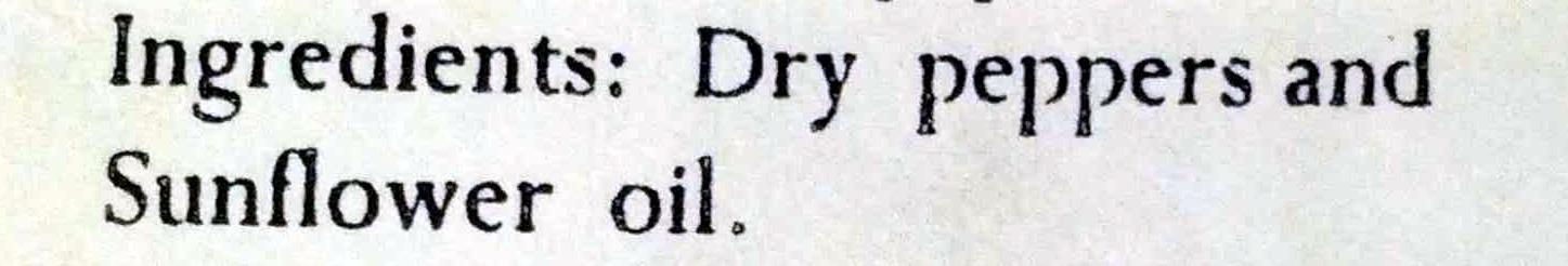 Pimentón de la Vera Calidad Dulce - Ingredientes