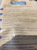 Chips bio con trufa negra melanosporum - Ingrédients - fr