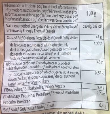 Chips Bio Paprika - Información nutricional
