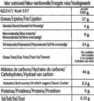 Chips Bio Provenzal - Información nutricional