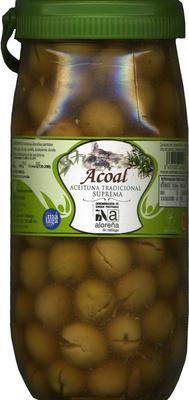 Aceitunas verdes partidas Aloreña de Málaga - Producto