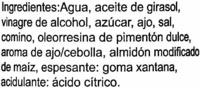 """Salsa de mojo picón """"El Argentino"""". Sabor clásico - Ingredients"""