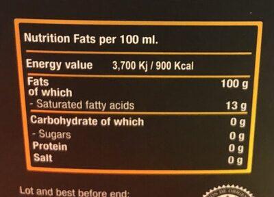 Olive oil - Informations nutritionnelles - en