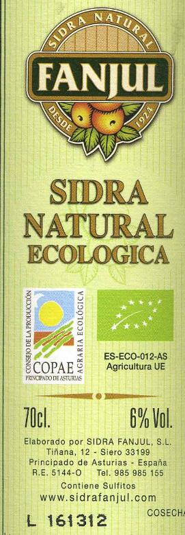 Sidra natural - Ingredients - es