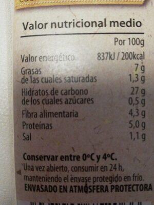 Arroz tres delicias envase 350 g - Voedingswaarden