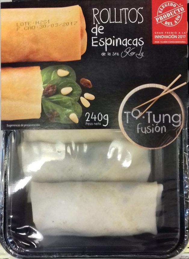 Rollitos de espinacas - Produit - es