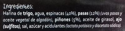 Rollitos de espinacas - Ingredientes