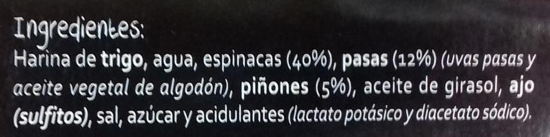 Rollitos de espinacas - Ingrédients - es