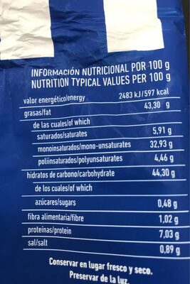 Patatas fritas con sal - Informations nutritionnelles - fr