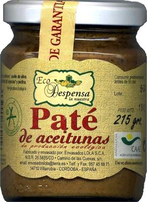 Paté de aceitunas - Product - es