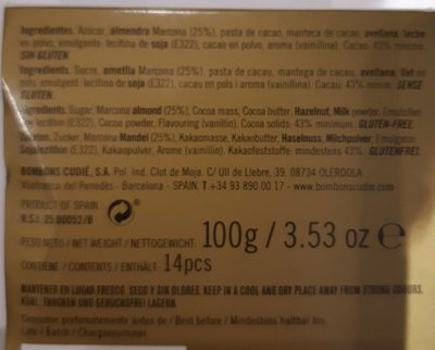 Cacahuète Dark chocolat - Ingredienti - fr